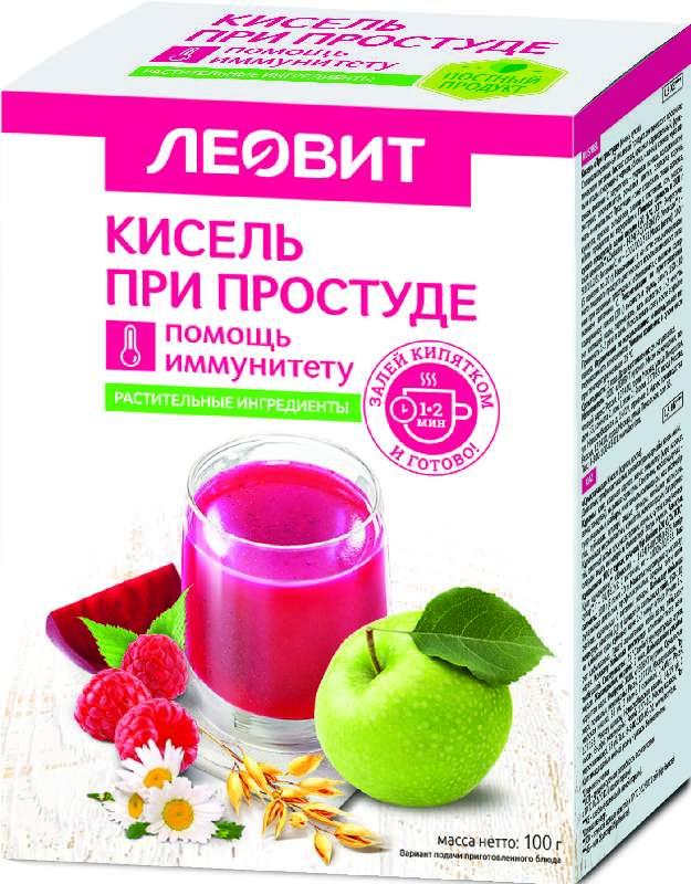 ЛЕОВИТ БИОИННОВАЦИИ кисель диетический при Простуде 20г 5 шт.