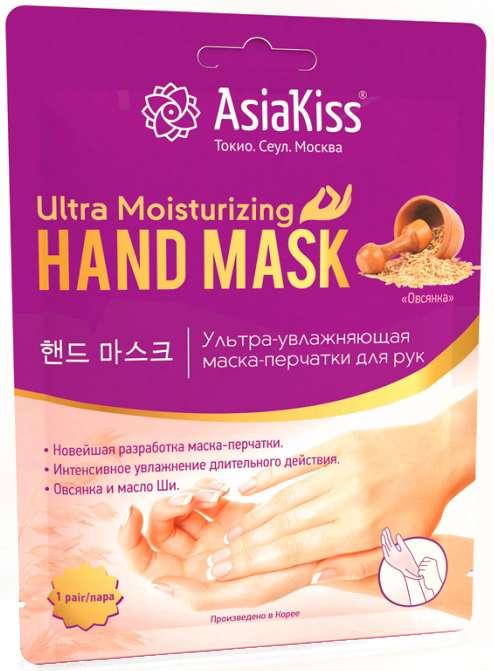 Азия кисс маска-перчатки для рук ультраувлажняющая овсянка 1 шт., фото №1