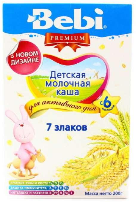 Беби премиум каша молочная 7злаков 6+ 200г, фото №1