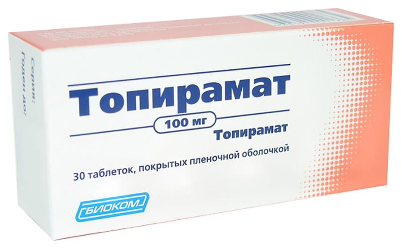 ТОПИРАМАТ таблетки 25 мг 30 шт.