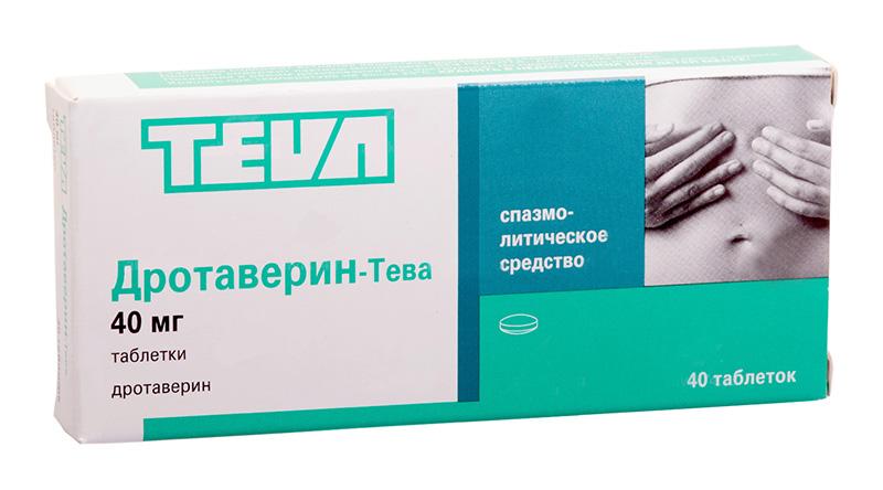 ДРОТАВЕРИН-ТЕВА таблетки 40 мг 40 шт.