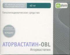 Аторвастатин-obl 40мг 30 шт. таблетки покрытые пленочной оболочкой, фото №1