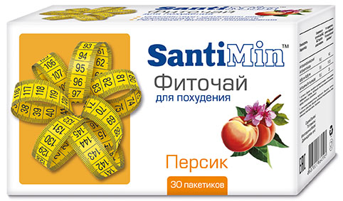 Сантимин чай персик 30 шт. фильтр-пакет, фото №1