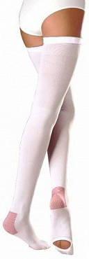 Венотекс чулки компрессионные с силиконовым фиксатором и открытым носком 1a210 (401) l белый, фото №1