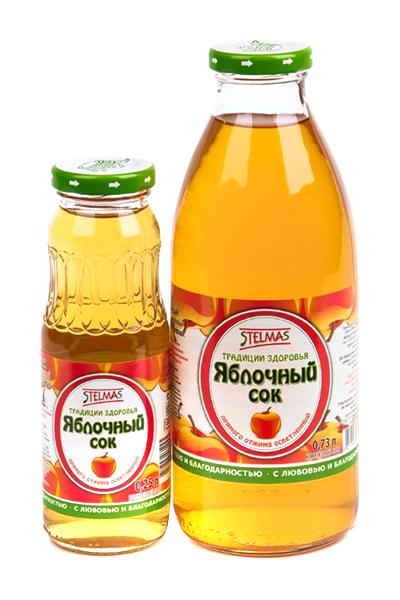Стэлмас сок яблочный осветленный 0,73л, фото №1