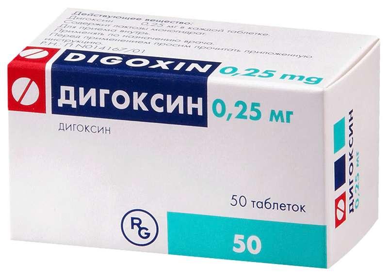 ДИГОКСИН таблетки 0.25 мг 50 шт.