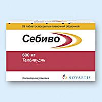 Себиво 600мг 28 шт. таблетки покрытые пленочной оболочкой, фото №1