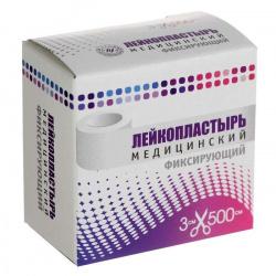 ОПТИМЭЛЬ пластырь фиксирующий нестерильный на тканевой основе 3х500см