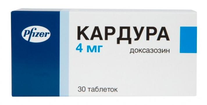 КАРДУРА таблетки 4 мг 30 шт.