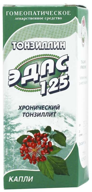 Эдас-125 25мл капли гомеопатические (тонзиллин), фото №1