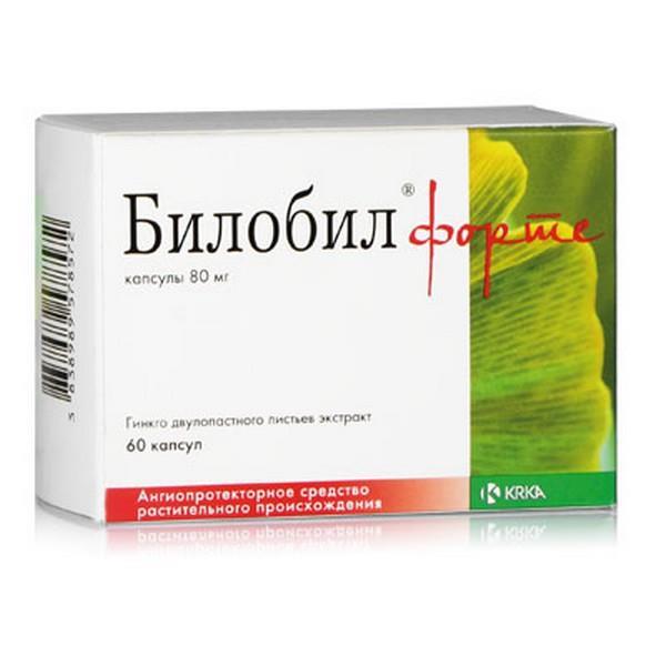 Билобил форте капсулы 80 мг 60 шт.;