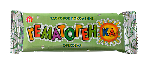 ГЕМАТОГЕНКА Ореховая 40г