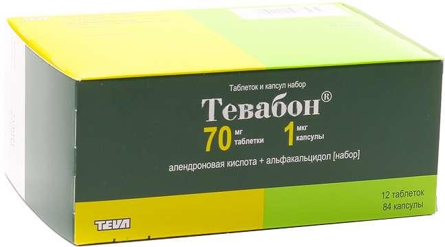 ТЕВАБОН набор таблеток и капсул 70 мг 12 шт.