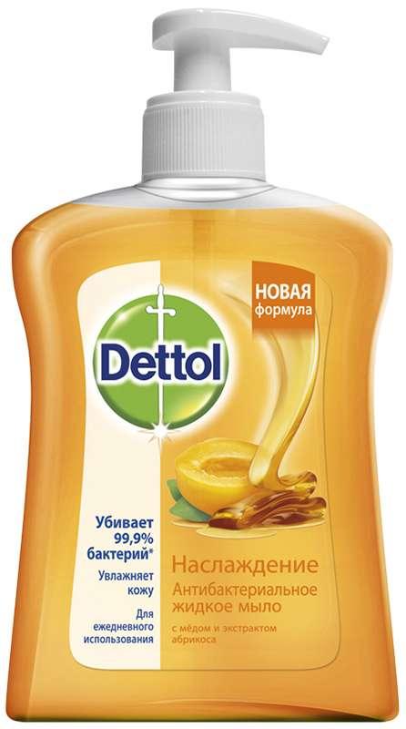 Деттол мыло жидкое для рук наслаждение мед/абрикос 250мл, фото №1
