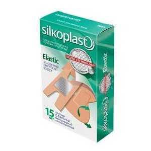 Силкопласт пластырь набор эластик 15 шт. фармапласт, фото №1