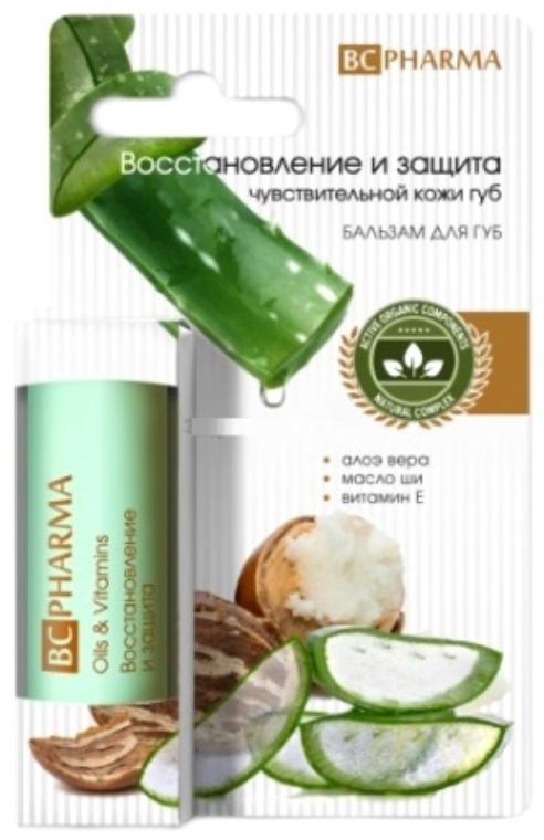 Биси фарма бальзам для губ восстановление и защита для чувствительной кожи 4,1г, фото №1