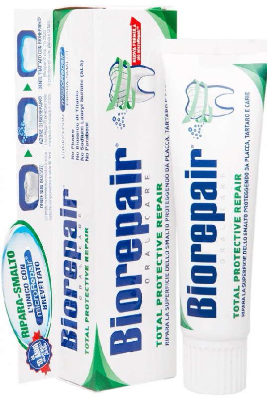 Биорепейер тотал протектив репейр зубная паста восстановление эмали 75мл, фото №1