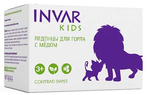 Инвар кидс леденцы для горла с медом (со вкусом малины) 10 шт., фото №1