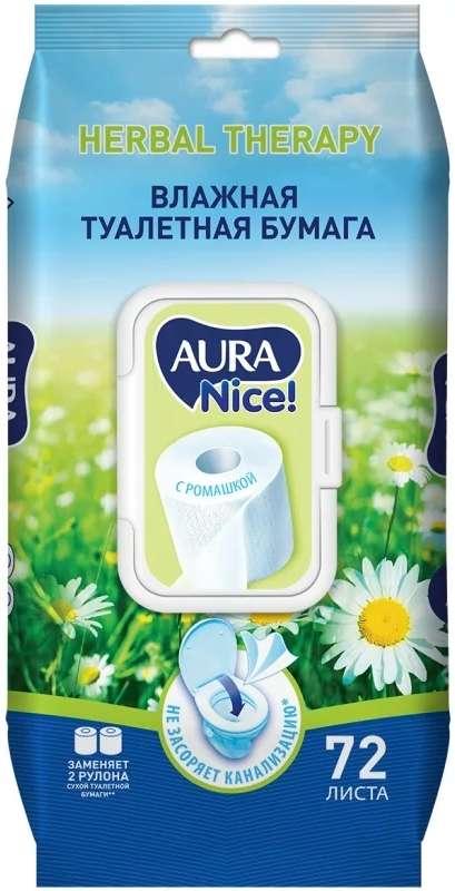 Аура салфетки влажные антибактериальные 72 шт., фото №1