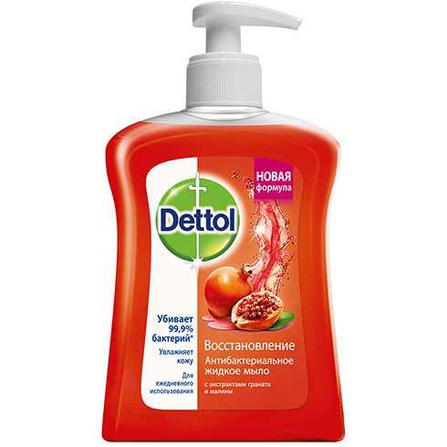 Деттол мыло жидкое для рук восстановление гранат/малина 250мл, фото №1