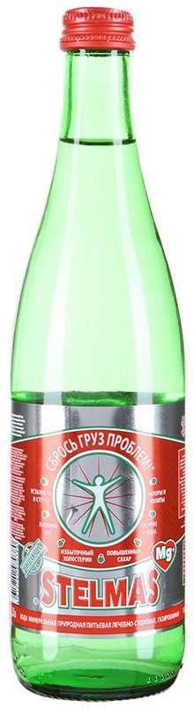 Стэлмас mg+ вода минеральная газированная 0,5л стекло, фото №1