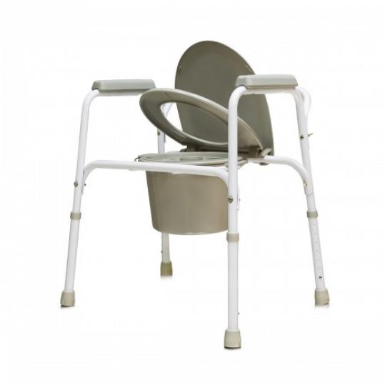 Амрус кресло-туалет amсв6803 стальное со спинкой, фото №1