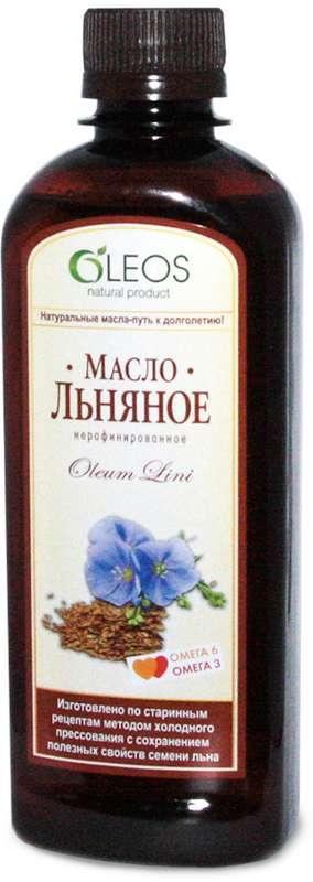 Олеос масло пищевое льняное (бад) 350мл, фото №1