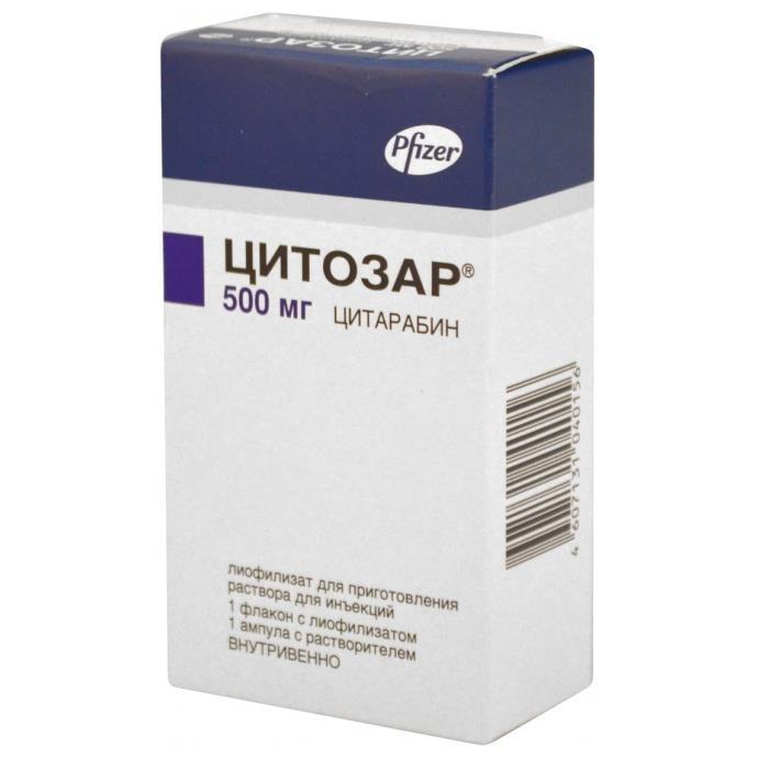 ЦИТОЗАР 500мг 1 шт. лиофилизат для приготовления раствора для инъекций