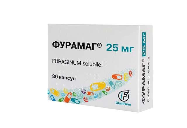ФУРАМАГ капсулы 25 мг 30 шт.