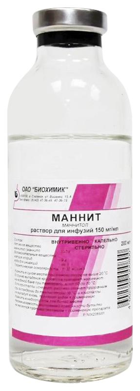 МАННИТ 150 мг/мл 200мл раствор для инфузий