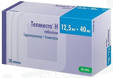 Телмиста н 12,5мг+40мг 28 шт. таблетки, фото №1