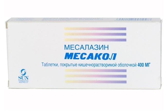 МЕСАКОЛ таблетки 400 мг 5 шт.