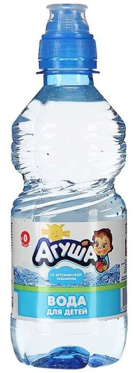 Агуша вода питьевая для детей 0,33л, фото №1