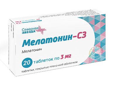 Мелатонин-сз 3мг 20 шт. таблетки покрытые пленочной оболочкой, фото №1