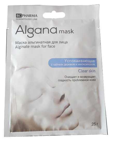 Альгана клиа скин маска для лица альгинатная успокаивающая с чайным деревом миоксинолом 25г, фото №1