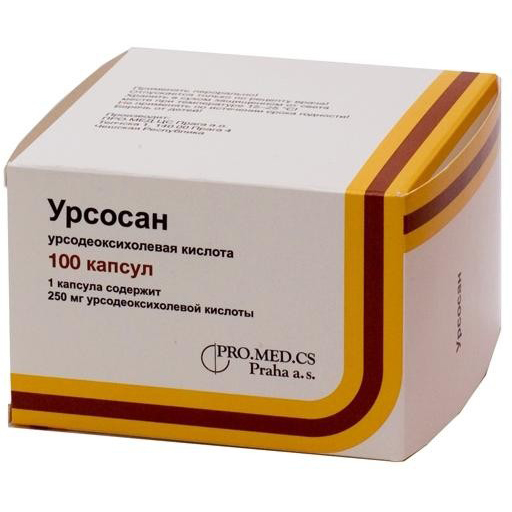 Урсосан 250мг 100 шт. капсулы pro.med.cs praha a.s./зио-здоровье, фото №1