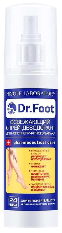 Доктор фут дезодорант-спрей освежающий против неприятного запаха для ног 150мл, фото №1