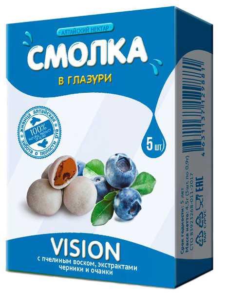 Алтайский нектар смолка в глазури вижн 5 шт., фото №1