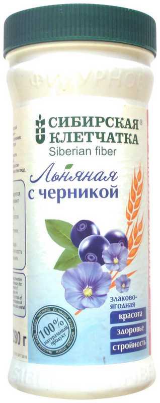 Клетчатка сибирская льняная с черникой 280г, фото №1
