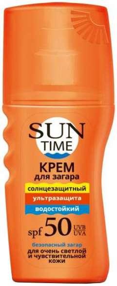 Сан тайм крем для безопасного загара ультразащита spf50 150мл, фото №1