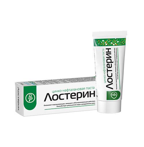 ЛОСТЕРИН паста цинко-нафталановая 50мл.