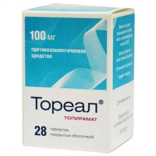 Тореал 100мг 28 шт. таблетки покрытые оболочкой, фото №1