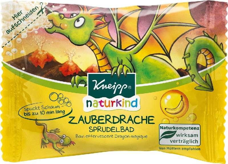 КНЕЙПП НАТУРКИНД таблетки для ванн шипучие Волшебный Дракон с ароматом Банана 80г