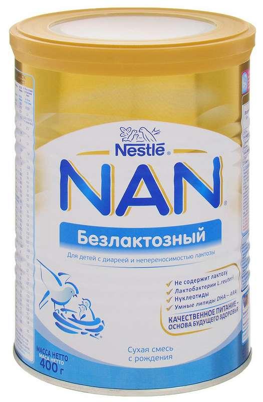 Нестле нан безлактозный 1 смесь молочная 400г, фото №1