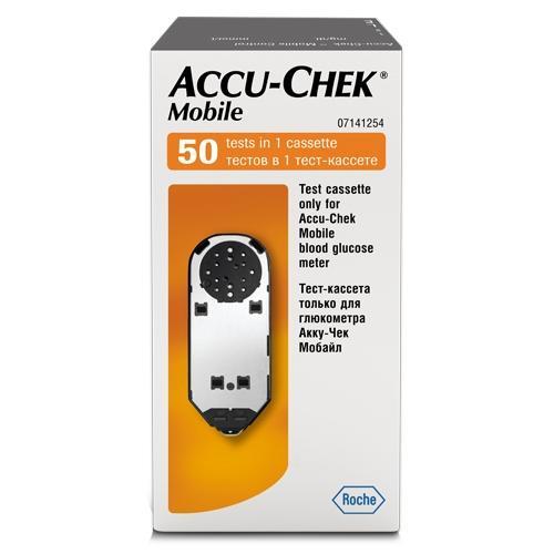 Акку-чек мобайл тест-кассета 50 шт., фото №1