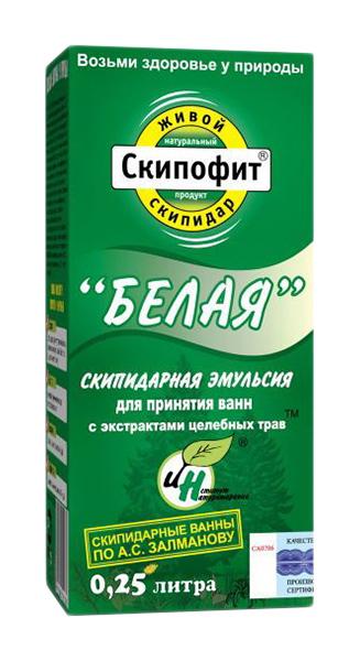 Скипофит эмульсия для ванн белая с экстрактами целебных трав 250мл, фото №1