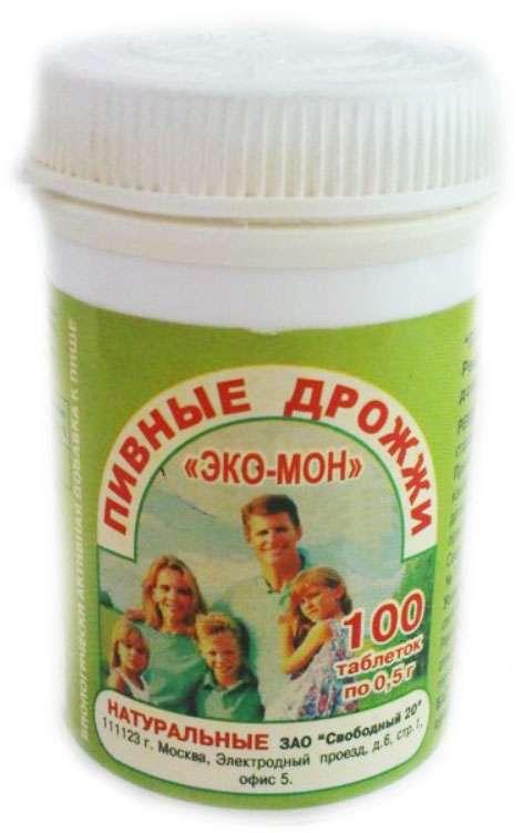 Дрожжи пивные эко мон натуральные 0,5г таблетки 100 шт., фото №1