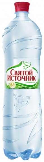 Святой источник вода питьевая газ пэт 1,5л, фото №1