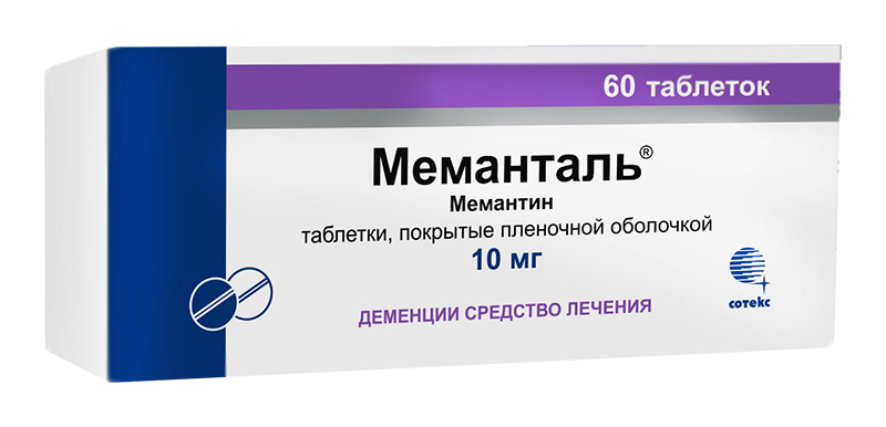 МЕМАНТАЛЬ таблетки 10 мг 60 шт.