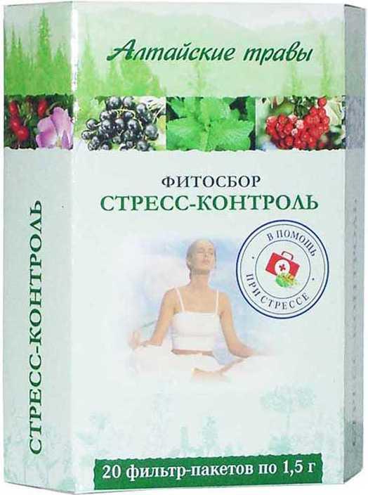 Алтайские травы стресс-контроль фитосбор 1,5г 20 шт. фильтр-пакет, фото №1